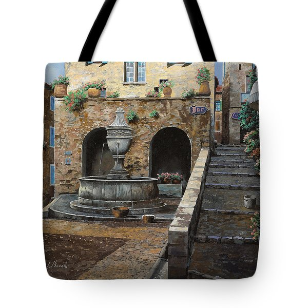 Rue Du Bresc A St Paul De Vence Tote Bag by Guido Borelli