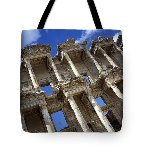 Ruins Of The Great Library At Ephesus Tote Bag by Axiom Photographic