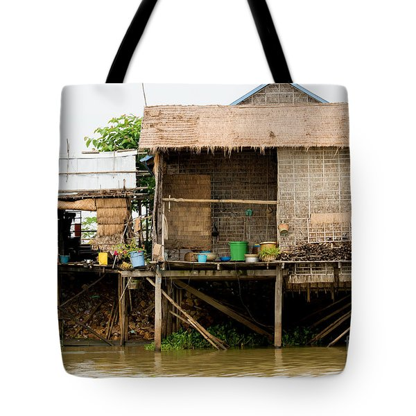 Rural Houses in Cambodia Tote Bag by Artur Bogacki
