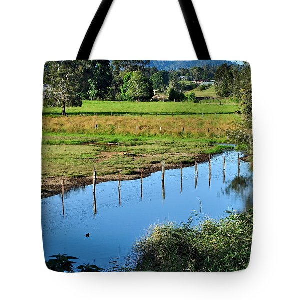 Rural Landscape after Rain Tote Bag by Kaye Menner