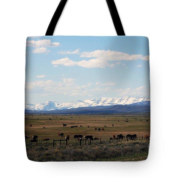 Rural Wyoming - On The Way To Jackson Hole Tote Bag by Susanne Van Hulst
