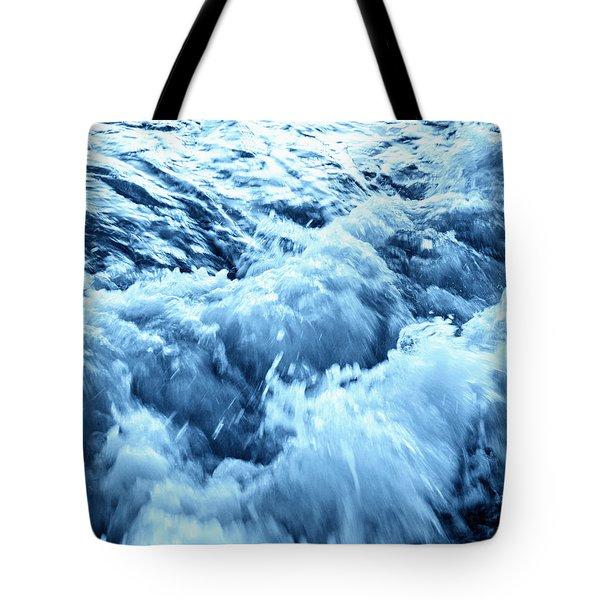 Rushing Water Tote Bag by Skip Nall