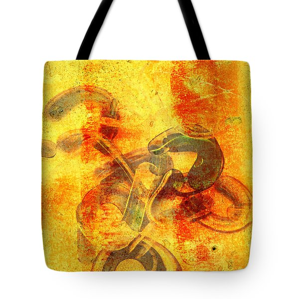 Rustic Gold Tote Bag by Andee Design