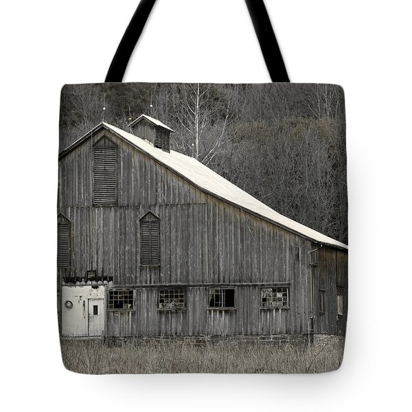 Rustic Weathered Mountainside Cupola Barn Tote Bag by John Stephens
