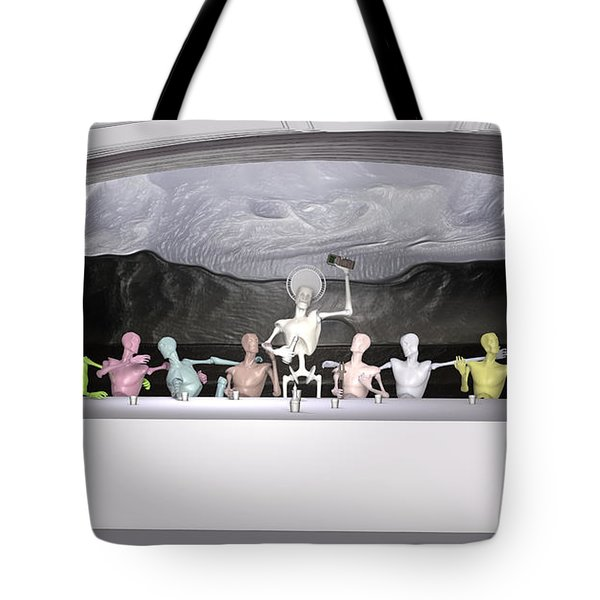 Sacrament Of The Machines Tote Bag by Joaquin Abella