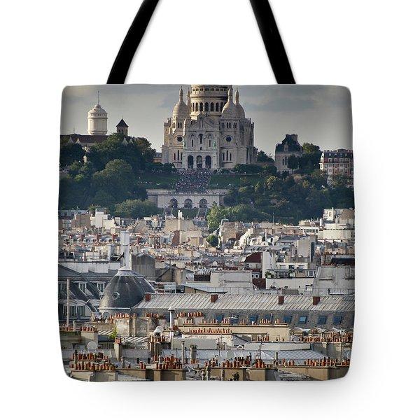 Sacre Coeur Rooftops Tote Bag by Gary Eason