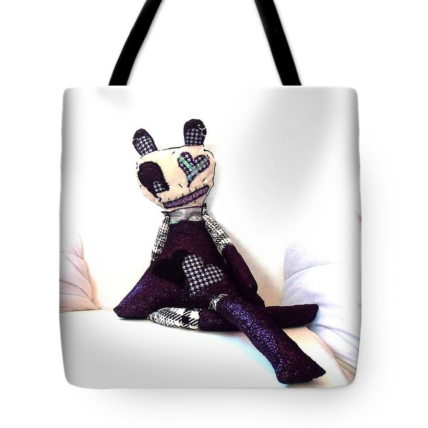 Sadie Soc Hop Zombie Tote Bag by Oddball Art Co by Lizzy Love