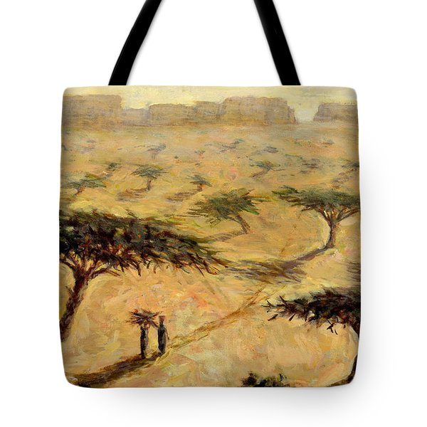 Sahelian Landscape Tote Bag by Tilly Willis