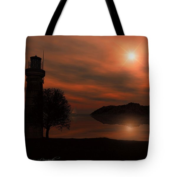 Sail At Dusk Tote Bag by Lourry Legarde