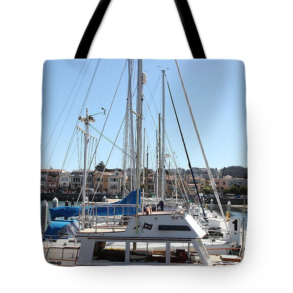 Sail Boats At The San Francisco Marina - 5d18189 Tote Bag by Wingsdomain Art and Photography