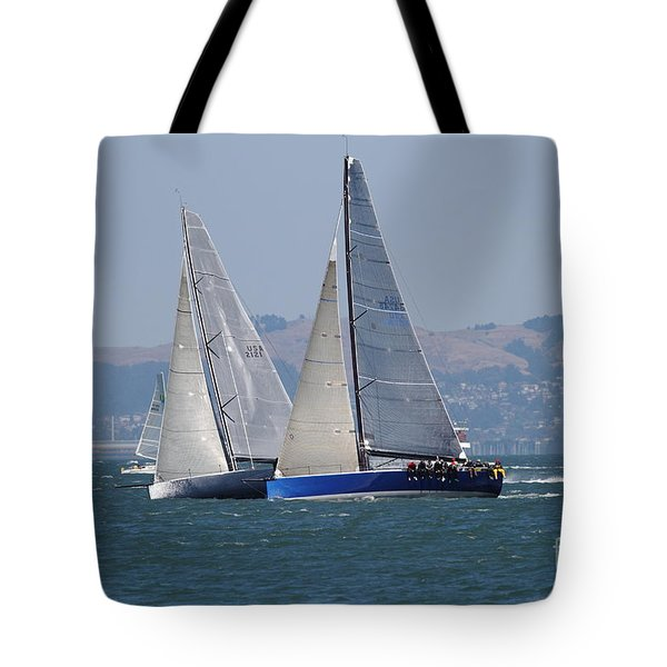 Sail Boats On The San Francisco Bay - 7d18323 Tote Bag by Wingsdomain Art and Photography