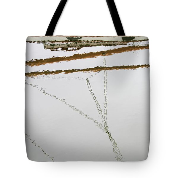 Sailboat Reflect Tote Bag by Karol Livote