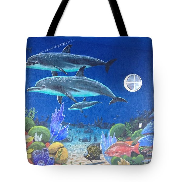 Sailfish Splash Park 2 Tote Bag by Carey Chen