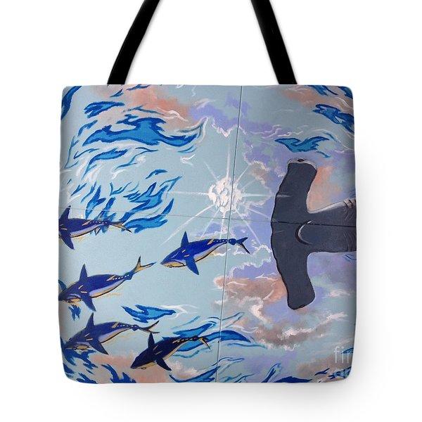 Sailfish Splash Park Mural 8 Tote Bag by Carey Chen