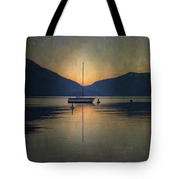 Sailing Boat At Night Tote Bag by Joana Kruse
