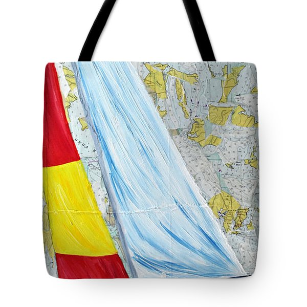 Sailing From The Charts Tote Bag by Michael Lee