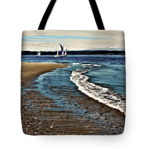 Sailing The Puget Sound Tote Bag by David Patterson