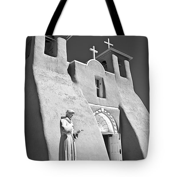 Saint Francisco De Asis Mission Tote Bag by Melany Sarafis