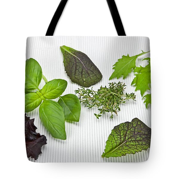 Salad Greens And Spices Tote Bag by Joana Kruse