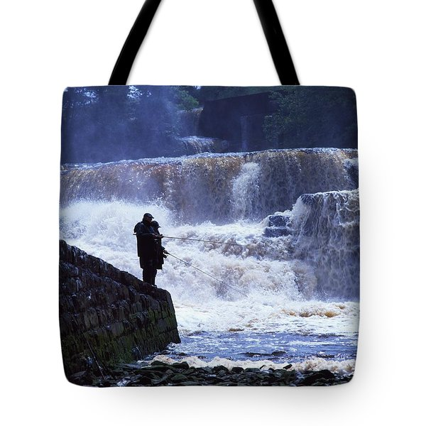 Salmon Fishing, Ballisodare River, Co Tote Bag by The Irish Image Collection