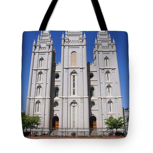 Salt Lake Mormon Temple Tote Bag by Gary Whitton
