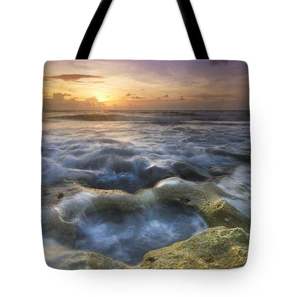 Salty Pool Tote Bag by Debra and Dave Vanderlaan