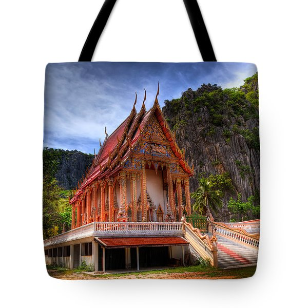 Sam Roi Yot Temple Tote Bag by Adrian Evans
