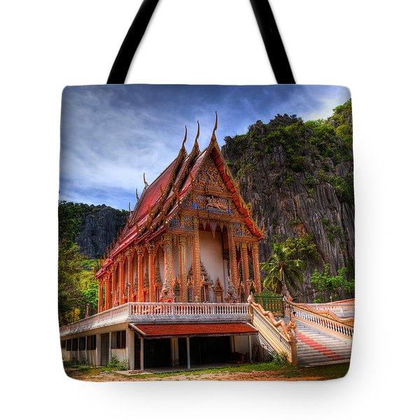 Sam Roi Yot Temple Tote Bag by Adrian Evans