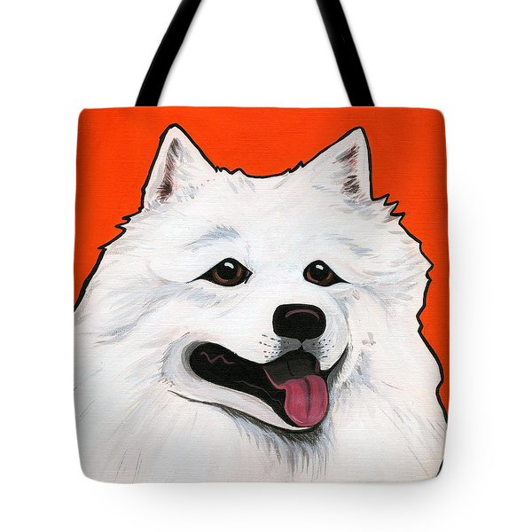 Samoyed Tote Bag by Leanne Wilkes