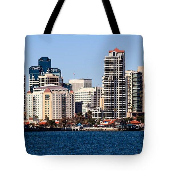 San Diego Buildings Photo Tote Bag by Paul Velgos