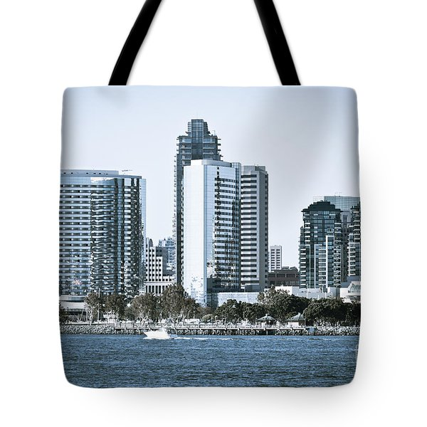 San Diego Downtown Waterfront Buildings Tote Bag by Paul Velgos