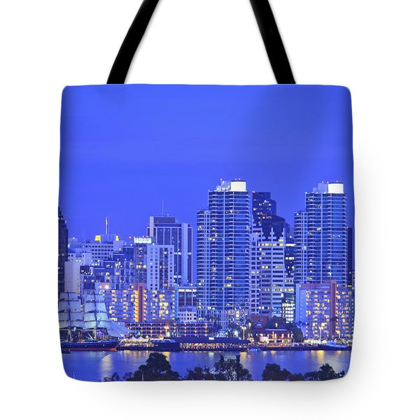 San Diego Skyline And Harbour Island Tote Bag by Stuart Westmorland