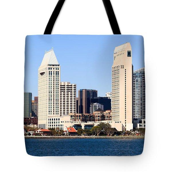 San Diego Skyscrapers Tote Bag by Paul Velgos