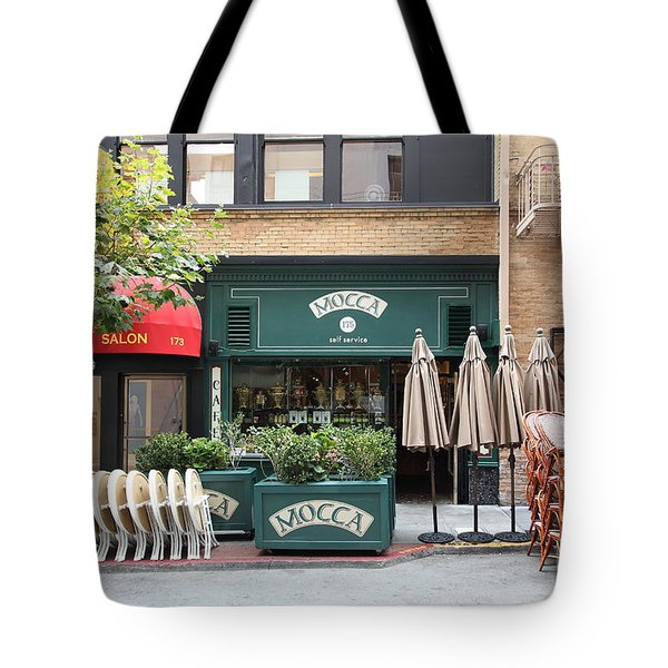 San Francisco - Maiden Lane - Mocca Cafe - 5D17788 Tote Bag by Wingsdomain Art and Photography