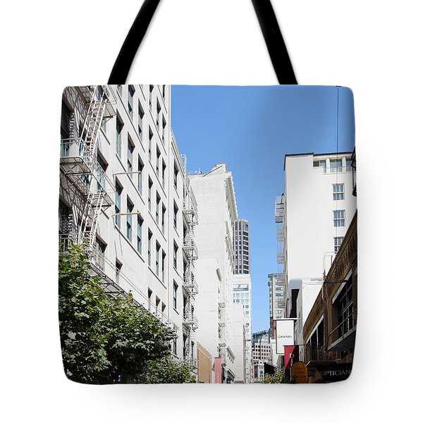 San Francisco - Maiden Lane - Outdoor Lunch At Mocca Cafe - 5d18011 Tote Bag by Wingsdomain Art and Photography