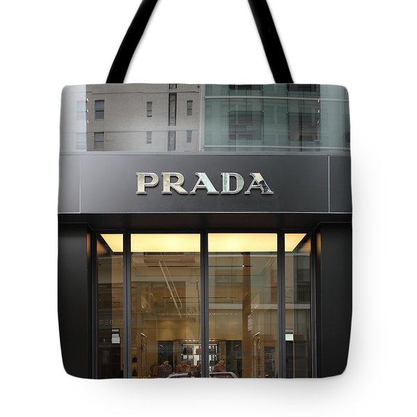 San Francisco - Maiden Lane - Prada Fashion Store - 5d17798 Tote Bag by Wingsdomain Art and Photography