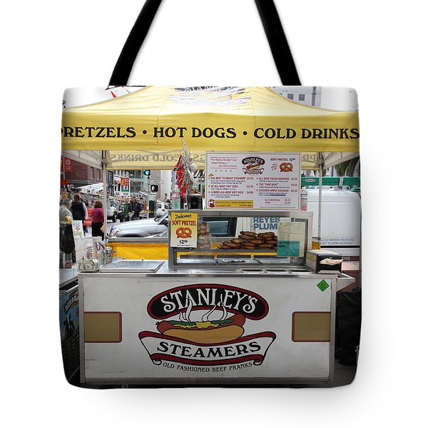 San Francisco - Stanley's Steamers Hot Dog Stand - 5D17929 Tote Bag by Wingsdomain Art and Photography