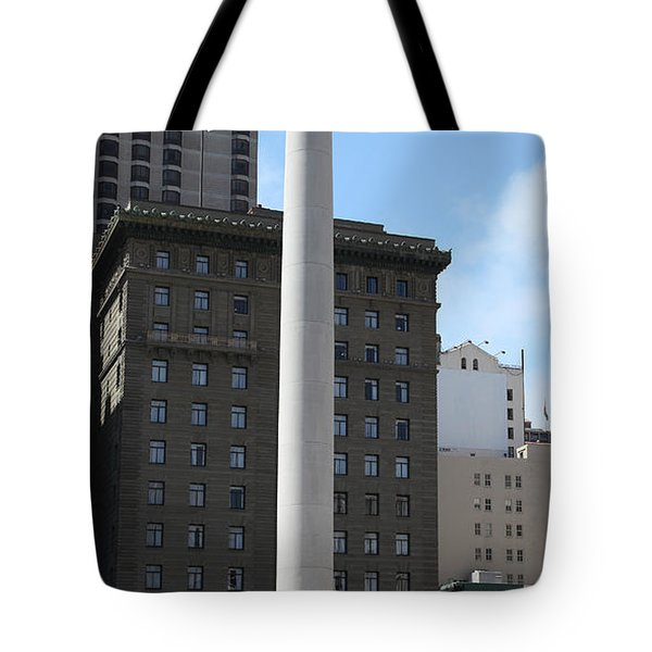 San Francisco - Union Square - 5D17934 Tote Bag by Wingsdomain Art and Photography