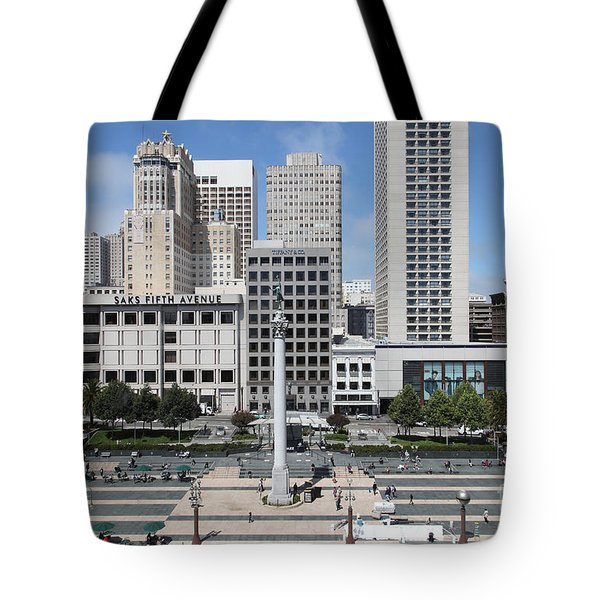San Francisco - Union Square - 5D17938 Tote Bag by Wingsdomain Art and Photography