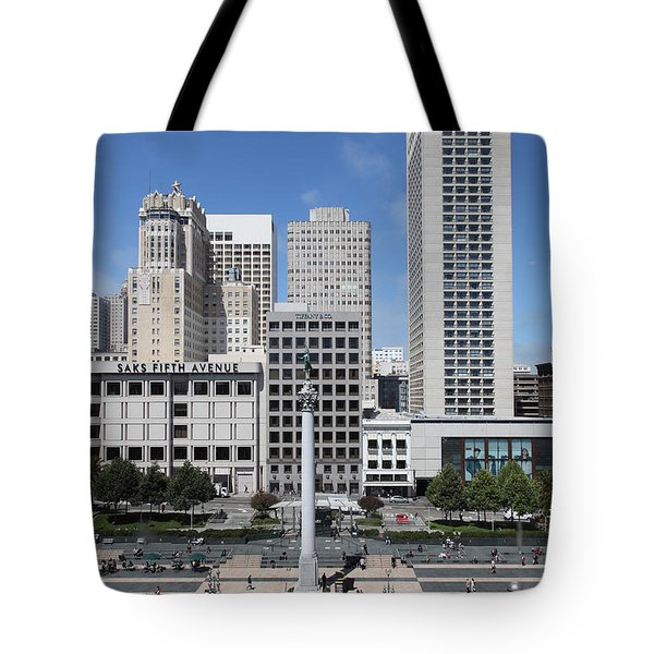 San Francisco - Union Square - 5D17941 Tote Bag by Wingsdomain Art and Photography