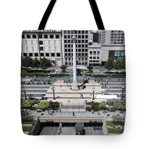San Francisco - Union Square - 5D17942 Tote Bag by Wingsdomain Art and Photography