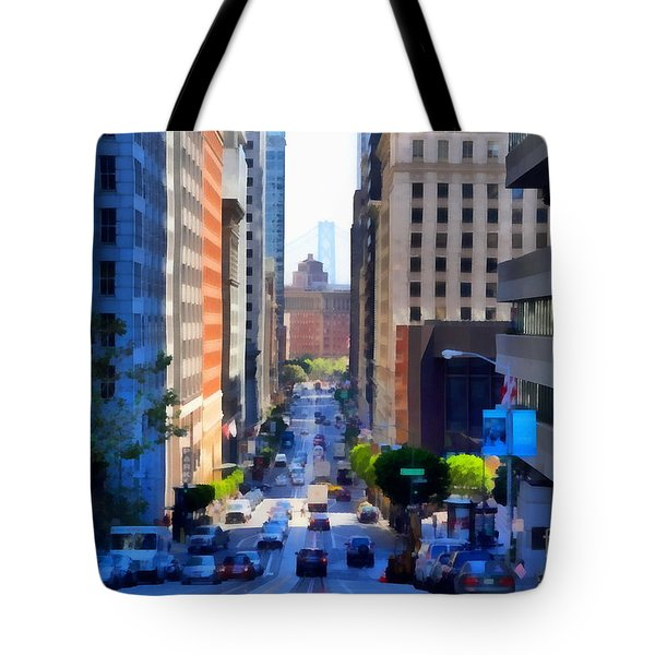 San Francisco California Street  . 7d7186 Tote Bag by Wingsdomain Art and Photography