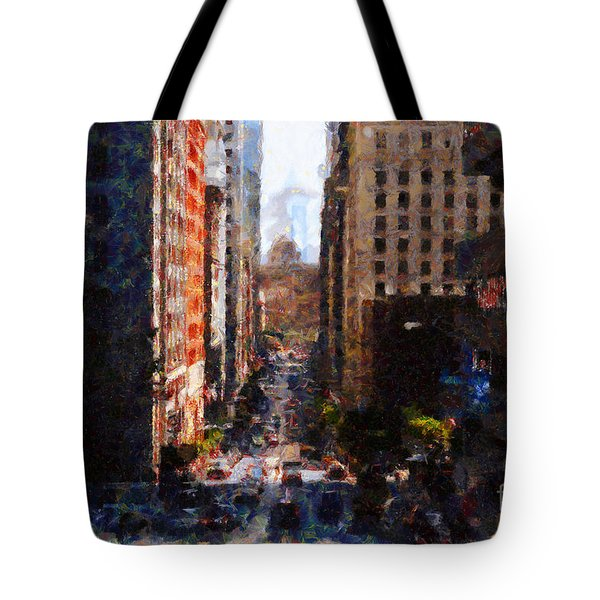 San Francisco California Street  . Painterly . 7d7186 Tote Bag by Wingsdomain Art and Photography