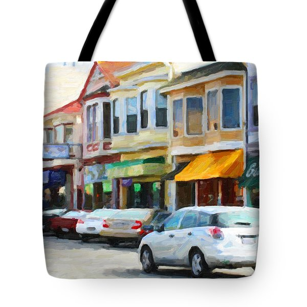 San Francisco Clement Street 2 Tote Bag by Wingsdomain Art and Photography