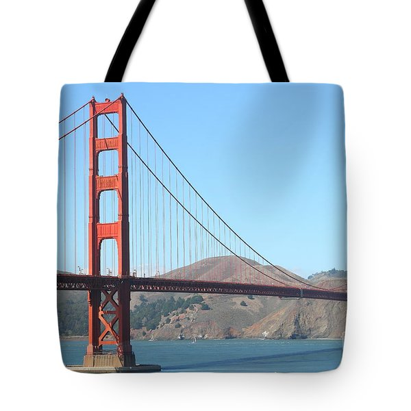 San Francisco Golden Gate Bridge . 7D7802 Tote Bag by Wingsdomain Art and Photography