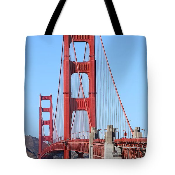 San Francisco Golden Gate Bridge . 7d8164 Tote Bag by Wingsdomain Art and Photography