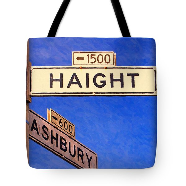 San Francisco Haight Ashbury Tote Bag by Wingsdomain Art and Photography