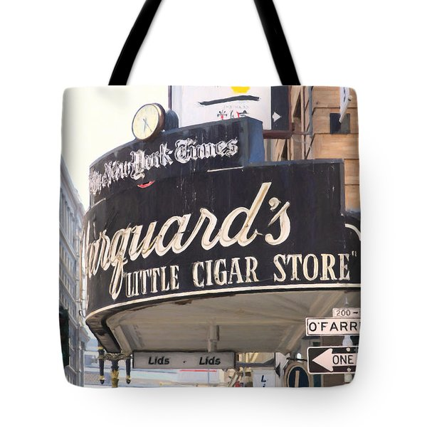 San Francisco Marquard's Little Cigar Store On Powell And O'farrell Streets - 5d17954 - Painterly Tote Bag by Wingsdomain Art and Photography