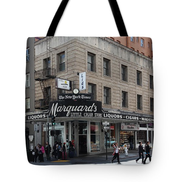 San Francisco Marquards Little Cigar Store Powell Street - 5D17950 Tote Bag by Wingsdomain Art and Photography