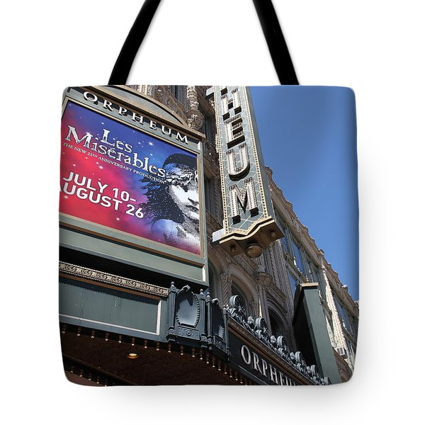 San Francisco Orpheum Theatre - 5d17990 Tote Bag by Wingsdomain Art and Photography